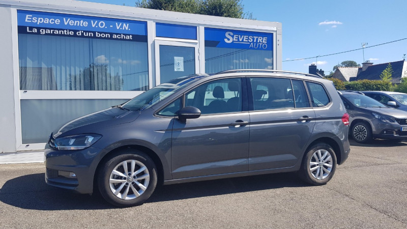 Volkswagen TOURAN 1.6 TDI 115CH BLUEMOTION TECHNOLOGY FAP TRENDLINE BUSINESS DSG7 7 PLACES Diesel GRIS FONCE Occasion à vendre