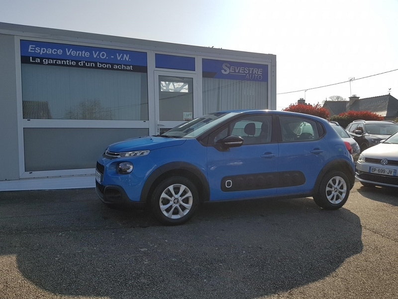 Citroen C3 PURETECH 68CH FEEL Essence BLEU Occasion à vendre