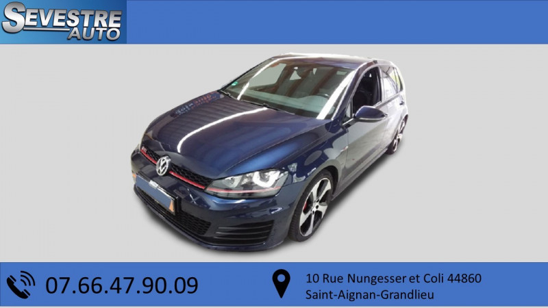 Volkswagen GOLF VII 2.0 TSI 230CH BLUEMOTION TECHNOLOGY GTI PERFORMANCE DSG6 5P Essence BLEU Occasion à vendre